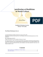 The Contribution of Buddhism to World Culture