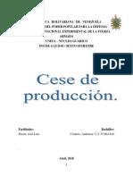 Cese de producción