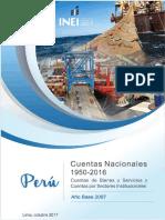 Cuentas Nacionales 1950 - 2016 (Año Base 2007)