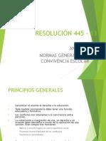 Resolución 445 Anexo IV