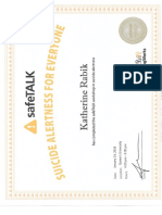 safe talk certificate