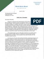 Senator Robert Menendez - Public Letter of Admonition