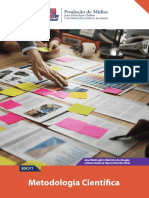 eBook Metodologia Cientifica-Especializacao Em Producao de Midias Para Educacao Online UFBA