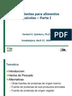 A01a Ingredientes Para Alimentos Acuicolas