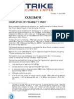 20090611 SRK - ASX - Completion of Feasibility Study