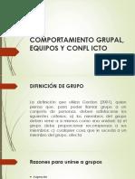 Comportamiento Grupal, Equipos y Confl Icto