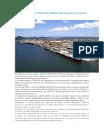 Regulamentada a Empresa Pública Que Irá Gerir Os Portos Paranaenses