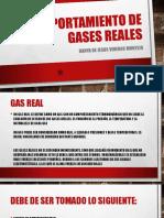 Comportamiento de Gases Reales