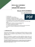 Novoa Monreal Critica Del Contenido de Ensec3b1anza Del Derecho
