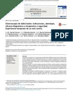 Enteroscopia de Doble Balón Indicaciones, Abordajes, Eficacia Diagnóstica y Terapéutica y Seguridad. Experiencia Temprana de Un Solo Centro