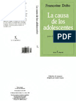 Dolto Francoise La Causa De Los Adolescentes