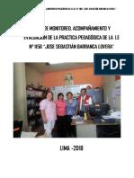 Plan de Monitoreo,Acompañamiento de La Practica Pedagogica I.E. 1156-JSBL Ccesa007