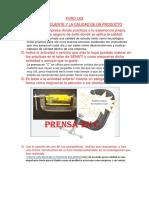 Foro u02- Servicio Al Cliente y La Calidad de Un Producto