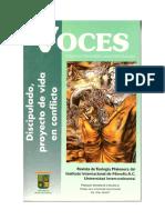 Voces 29 - Diálogo misionero contemporáneo Discipulado, proyecto de vida en conflicto