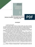 CANDIDO,Antonio - Introdução da Formação da literatura brasileira - momentos decisivos