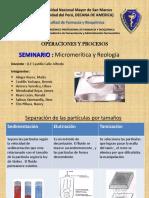 Sexto Seminario Micromerítica y Reología