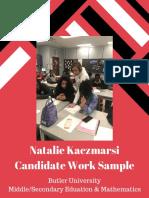 candidate work sample kaczmarski