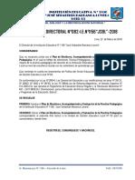 Resolucion Directoral Del Plan de Monitoreo,Acompañamiento y Evaluacion de La Practica Pedagogica Ccesa007