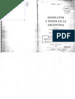 Carri, Sindicatos y Poder en La Argentina