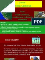 Medio Ambiente, Ecosistemas y Resistencia Ambiental