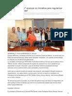 """24/04/2018 Sylvana y """"Maloro"""" avanzan en iniciativa para regularizar vehículos """"chocolate"""""""