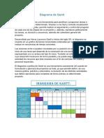4 Diagramas Gantt, Procesos, Flujo, Hombre Maquina