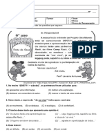 Prova de Língua Portuguesa 1Bim 6º Ano.docx