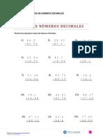 5° Calcular adiciones de decimales.doc