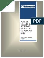 Plan Manejo de Residuos Sólido 2016