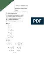 Formulas Teoria de Colas