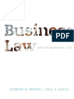 Business Law With UCC Applications__student Ed.- Gordon Brown (2012)