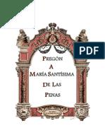 Pregon a M.S de Las Penas 2018