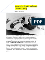 20 Curiosidades Sobre La Vida y Obra de Antoine de Saint-Exupery