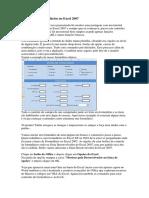 Como Criar Formulários No Excel 2007