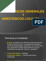 1.- Anestesicos Generales y Locales