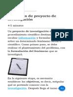 Definición de proyecto de investigación