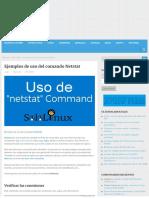 Ejemplos de Uso Del Comando Netstat - Linux Para Todos