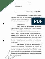 Sección 625- según Resolución ENARGAS N° 367-96