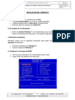 WINDOWS - Instalación Del Windows 7
