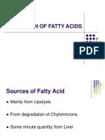 Oxdn of Fatty Acids