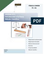 FC 01 Introducción a La Física (Guía Teorica) ( SA-3%)