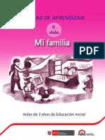 Mi Familia. II Ciclo. Aulas de 3 Años de Educación Inicial