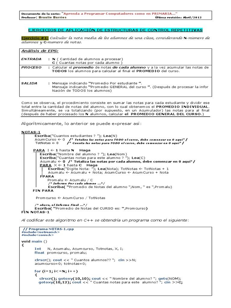 Explicacion Y Solucion De Ejercicios De Programación C
