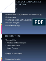 Production, Cost Analysis & Decision Making