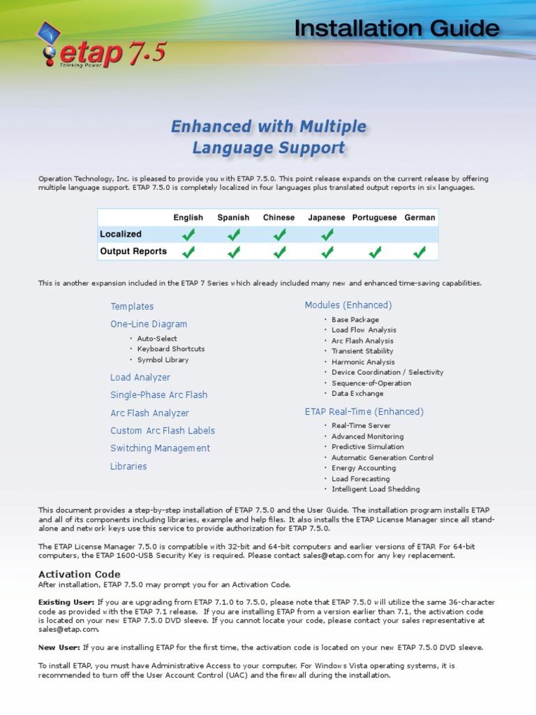 etap 7 5 user guide browse manual guides u2022 rh trufflefries co Etap North Sea Etap Measure
