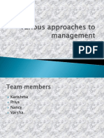 Various approaches to management.pptx