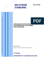 MS 1227-2003 Specification for Portland Pulverized Fuel Ash Cement (1st Rev)