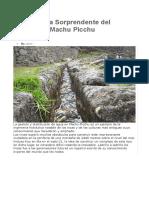 Ingeniería Sorprendente Del Agua en Machu Picchu