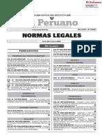 NORMAS LEGALES DEL DIA 26 DE ABIL DEL 2018