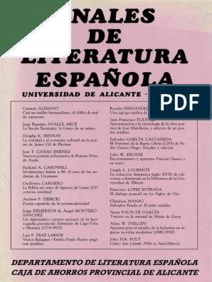 Anales De Literatura Espanola 4 Juan De La Cruz Poesía